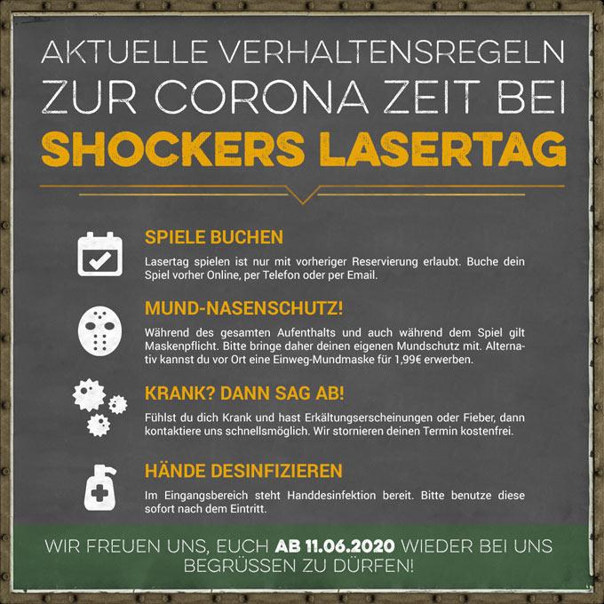 Wiedereröffnung Shockers Lasertag Corona